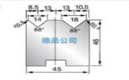 45-46双V折弯模具