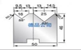 50-46双V折弯模具