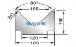 80°-185单V折弯模具