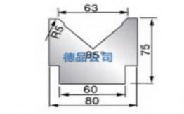 85°-80单V折弯模具